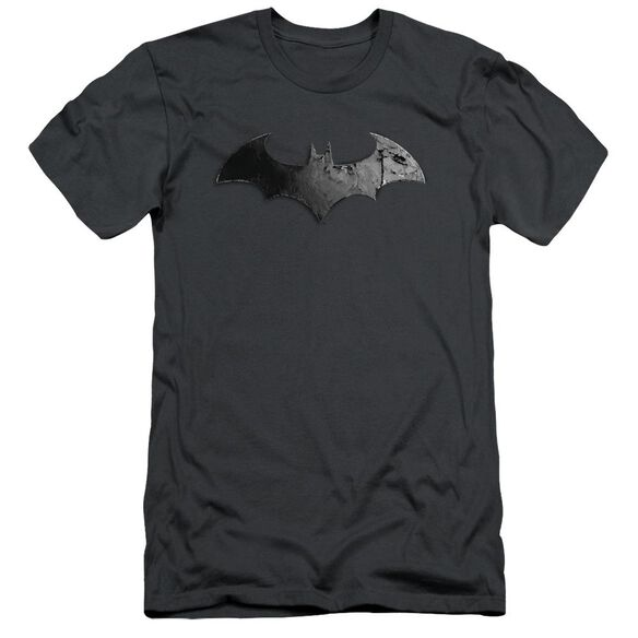 Arkham City Bat Logo Short Sleeve Adult T-Shirt