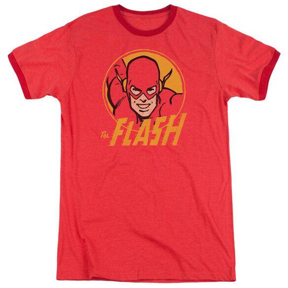 Dc Flash Flash Circle Adult Heather Ringer