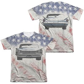 Buick 1959 Electra Flag (Front Back Print) Adult Poly Cotton Short Sleeve Tee T-Shirt