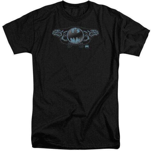 Batman Two Gargoyles Logo Short Sleeve Adult Tall T-Shirt