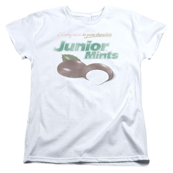 Tootsie Roll Junior Mints Logo Short Sleeve Womens Tee T-Shirt