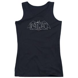 Beware The Batman B&W Logo Juniors Tank Top