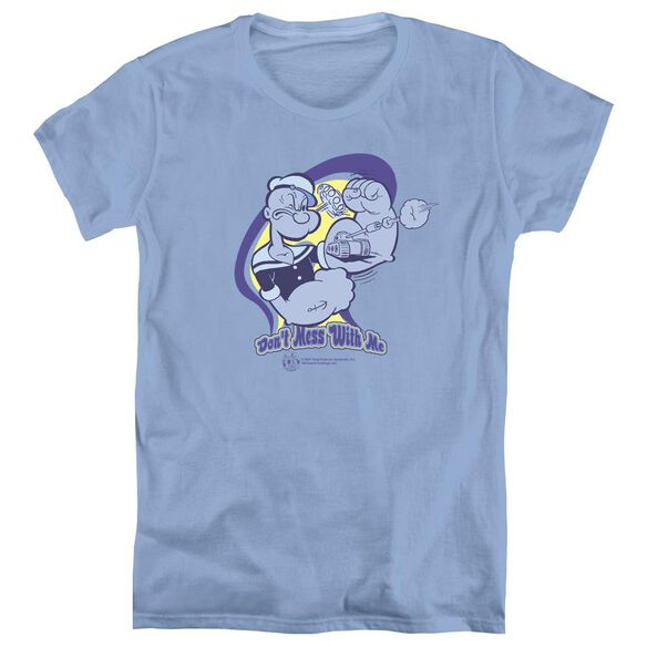 POPEYE DONT MESS WITH ME - S/S WOMENS TEE - CAROLINA BLUE T-Shirt