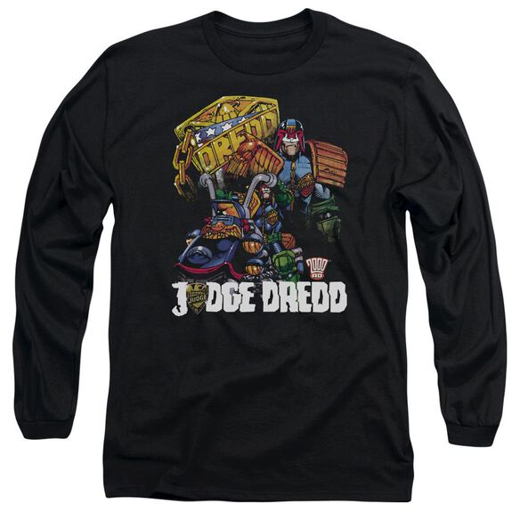 Judge Dredd Bike And Badge Long Sleeve Adult T-Shirt