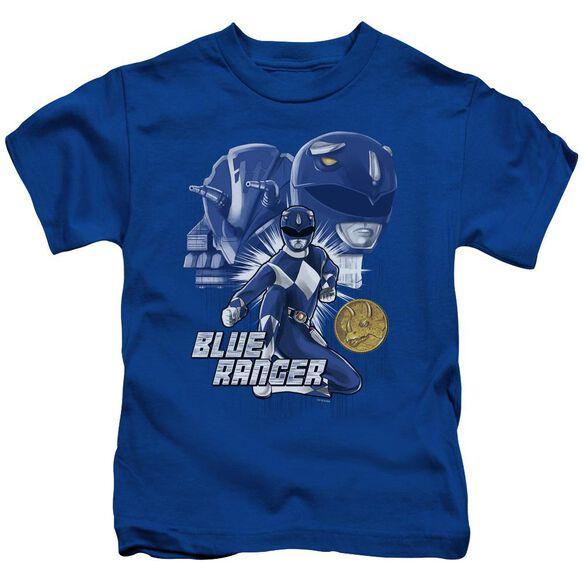 Power Rangers Ranger Short Sleeve Juvenile Royal T-Shirt