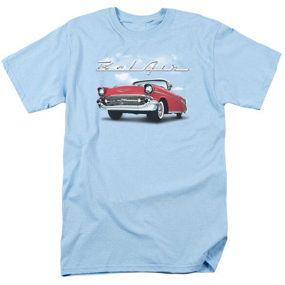 Chevrolet Bel Air Clouds Short Sleeve Adult Light Belue T-Shirt