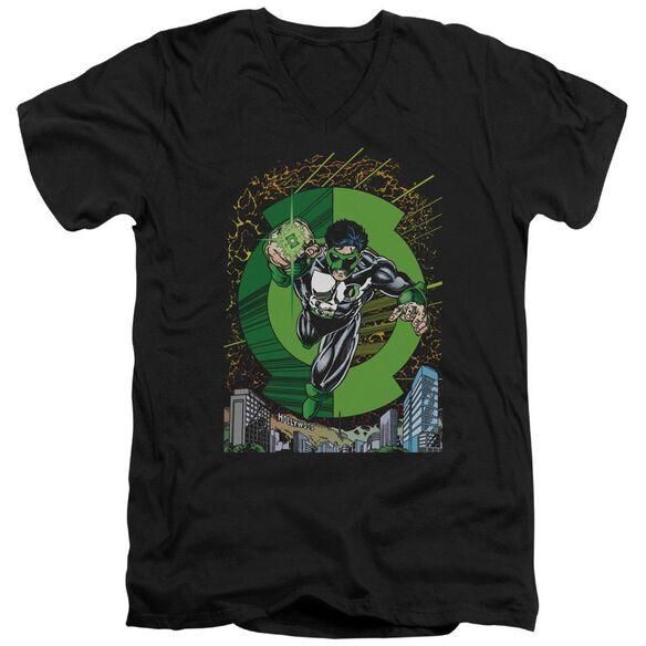 Green Lantern Gl #51 Cover Short Sleeve Adult V Neck T-Shirt