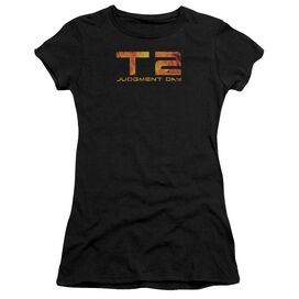 Terminator Fire Logo Short Sleeve Junior Sheer T-Shirt