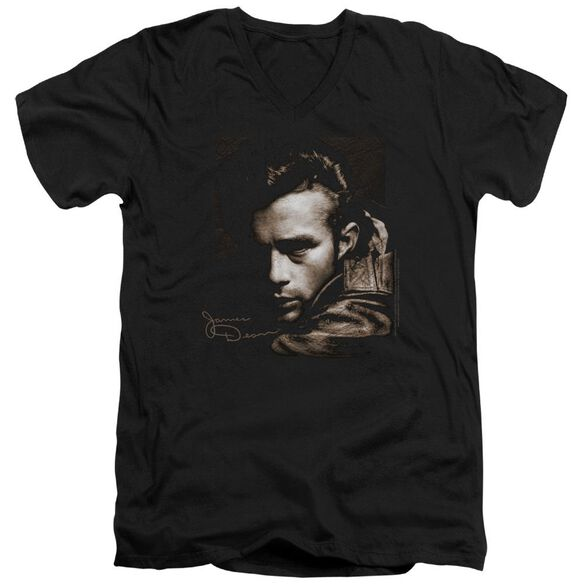 Dean Brown Leather Short Sleeve Adult V Neck T-Shirt