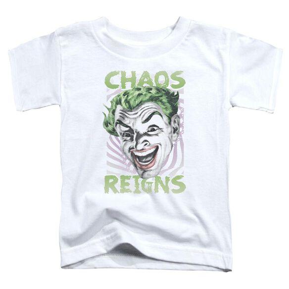 Batman Classic Tv Chaos Reigns Short Sleeve Toddler Tee White T-Shirt