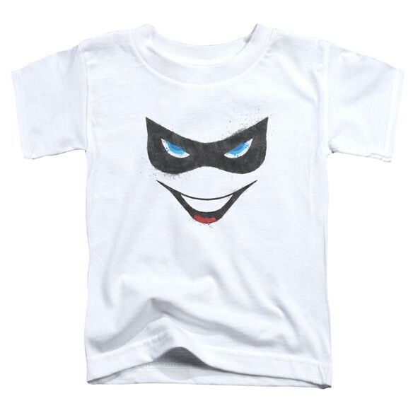 Batman Harley Face Short Sleeve Toddler Tee White Lg T-Shirt