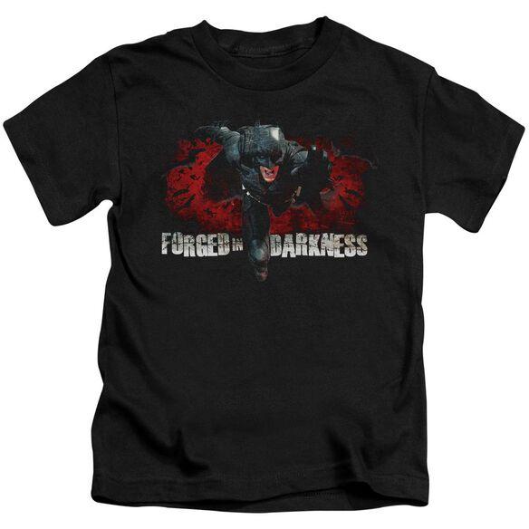 Dark Knight Rises Forged In Darkness Short Sleeve Juvenile Black T-Shirt