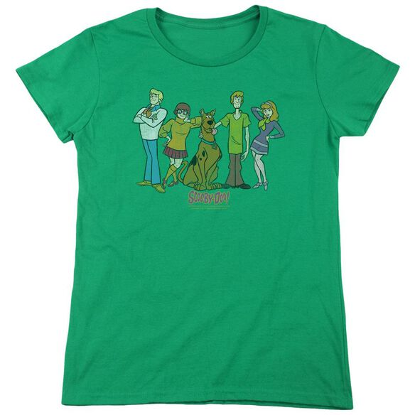 Scooby Doo Scooby Gang Short Sleeve Womens Tee Kelly T-Shirt