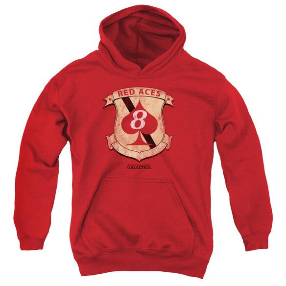 Bsg Aces Badge Youth Pull Over Hoodie