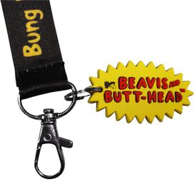 Beavis and Butthead Insults Charm Lanyard
