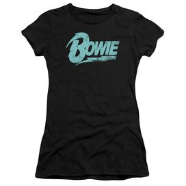 David Bowie Logo Short Sleeve Junior Sheer T-Shirt