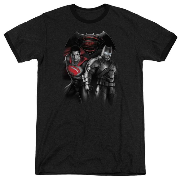 Batman V Superman Stand Off Adult Heather Ringer