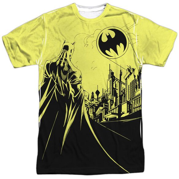 Batman Bat Signal Short Sleeve Adult 100% Poly Crew T-Shirt