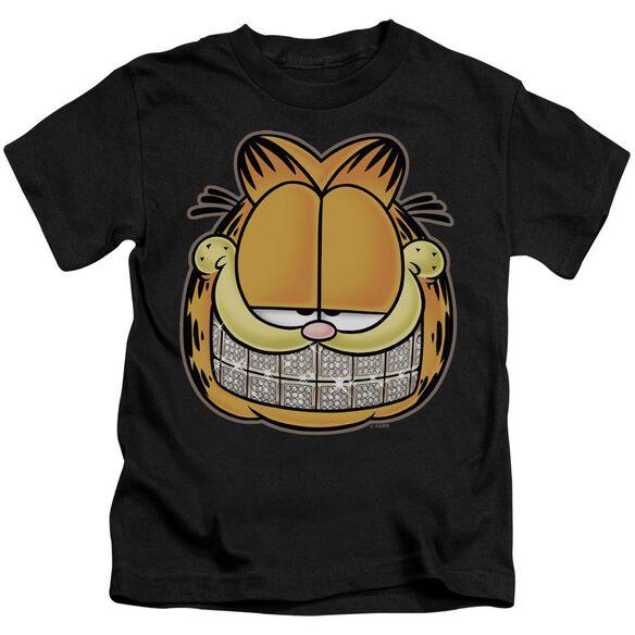Garfield Nice Grill Short Sleeve Juvenile Black T-Shirt