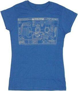 Warehouse 13 Blueprint Baby Tee