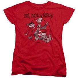 Ed Edd N Eddy Gang Short Sleeve Womens Tee T-Shirt