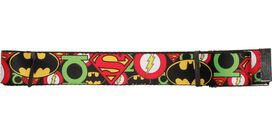 Justice League Overlapping Logos Wide Mesh Belt