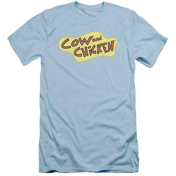 Cow And Chicken Cow Chicken Logo Short Sleeve Adult Light T-Shirt