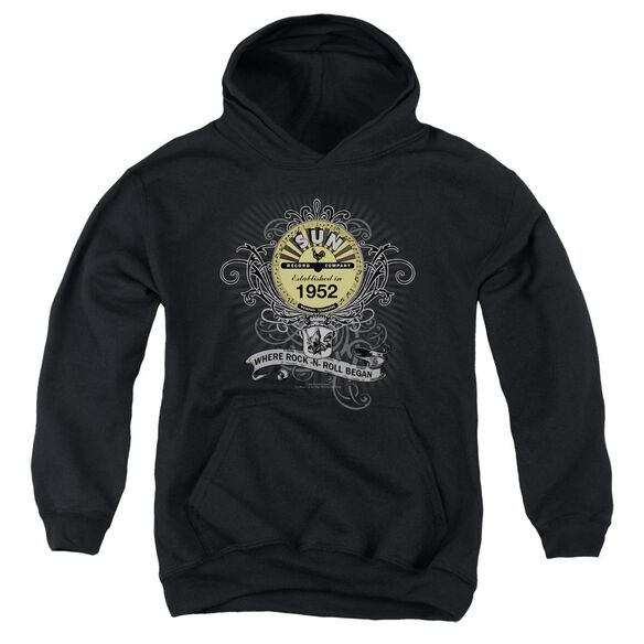 Sun Rockin Scrolls Youth Pull Over Hoodie