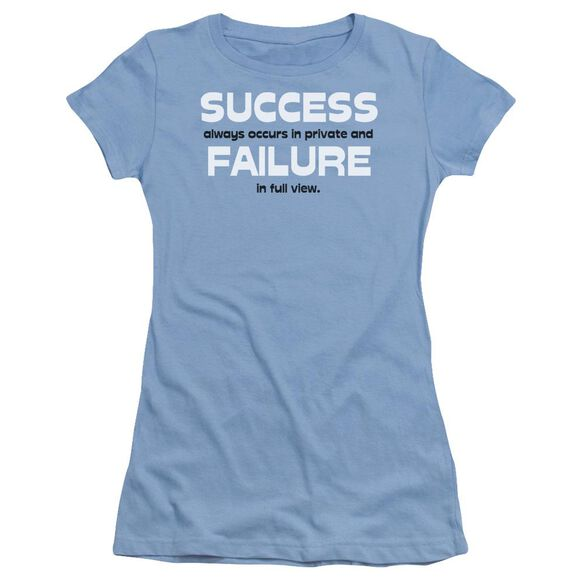 Success And Failure Short Sleeve Junior Sheer Carolina T-Shirt