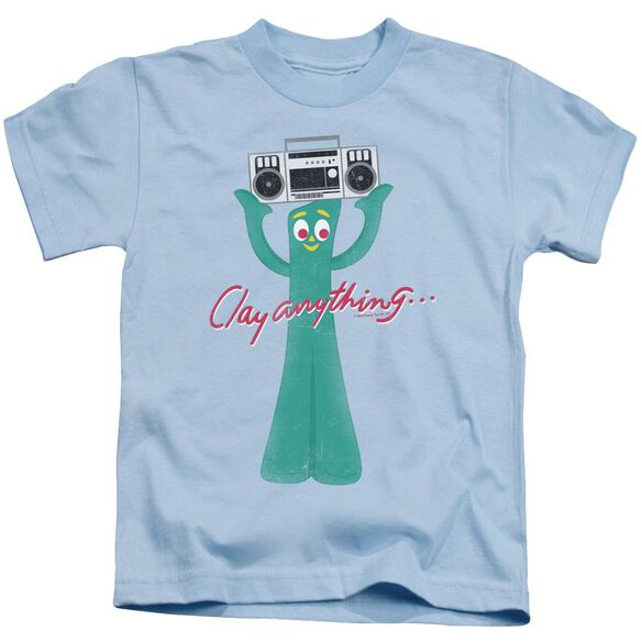 Gumby Clay Anything Short Sleeve Juvenile Light Blue T-Shirt