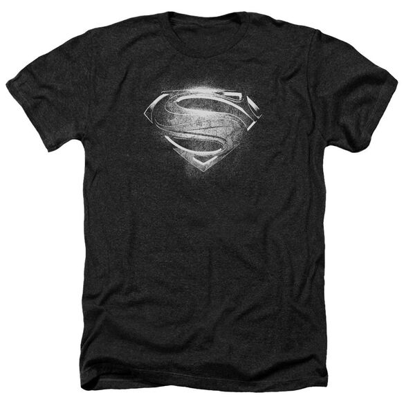 Man Of Steel Contrast Symbol Adult Heather