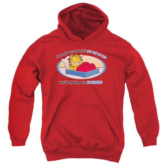 Garfield Pop Out Of Bed Youth Pull Over Hoodie