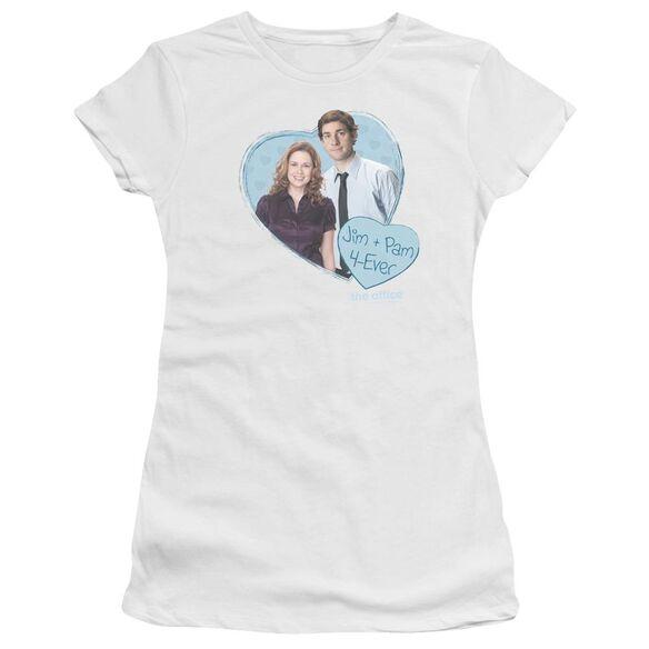 The Office Jim & Pam 4 Ever Premium Bella Junior Sheer Jersey