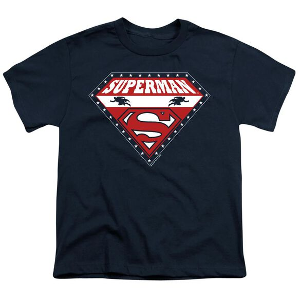 SUPERMAN SUPERMAN FOR PRESIDENT - S/S YOUTH 18/1 - NAVY T-Shirt