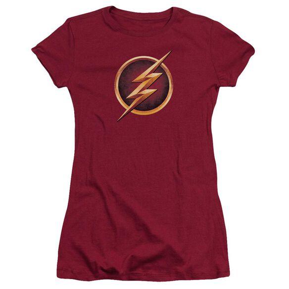 The Flash Chest Logo Short Sleeve Junior Sheer T-Shirt