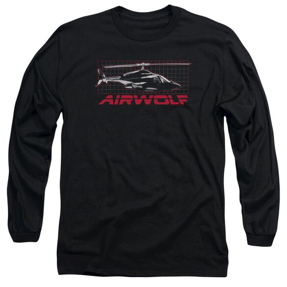 Airwolf Grid Long Sleeve Adult T-Shirt