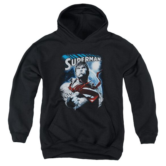 Superman Protect Earth Youth Pull Over Hoodie