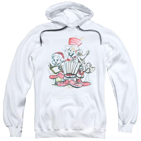 Looney Tunes Holiday Sketch Adult Pull Over Hoodie