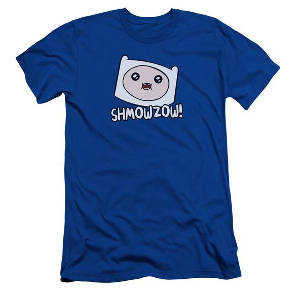 Adventure Time Shmowzow Short Sleeve Adult Royal T-Shirt