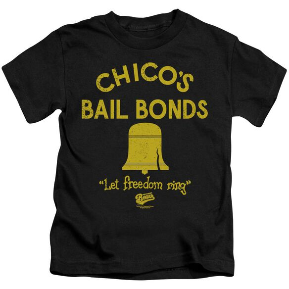 Bad News Bears Chico's Bail Bonds Short Sleeve Juvenile Black T-Shirt