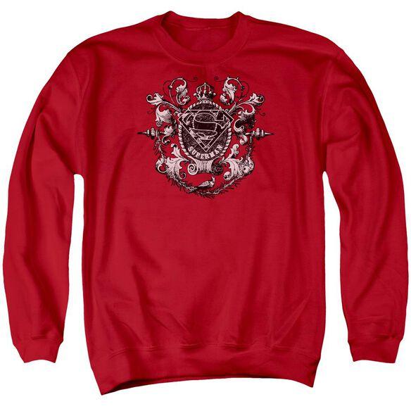 Superman All Hail Superman - Adult Crewneck Sweatshirt - Red