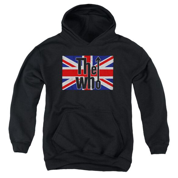 The Who Flag Logo Youth Pull Over Hoodie