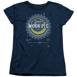 Moon Pie Snowing Moon Pies Short Sleeve Womens Tee T-Shirt
