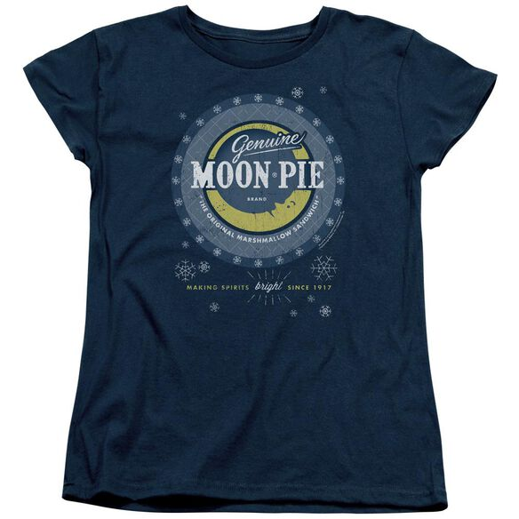 Moon Pie Snowing Moon Pies Short Sleeve Womens Tee T-Shirt