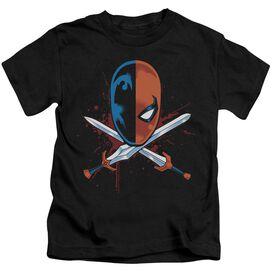Jla Crossed Swords Short Sleeve Juvenile T-Shirt