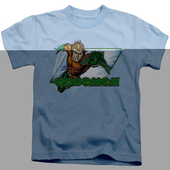Jla Aquaman Short Sleeve Juvenile Light Blue T-Shirt