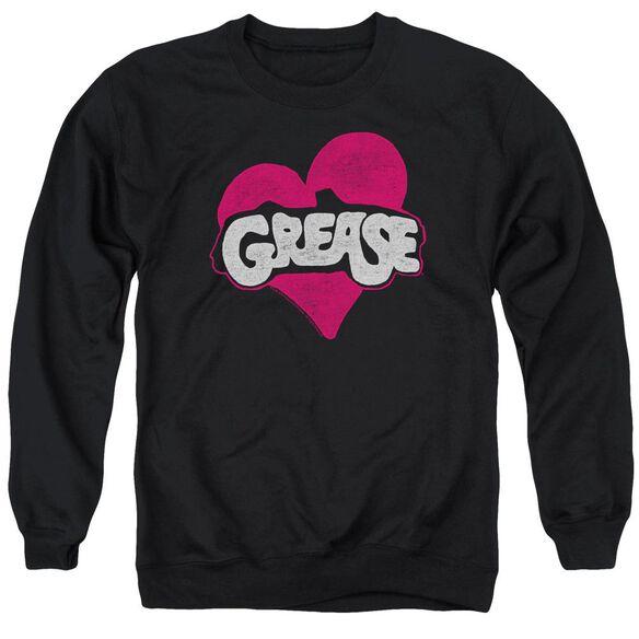 Grease Heart Adult Crewneck Sweatshirt