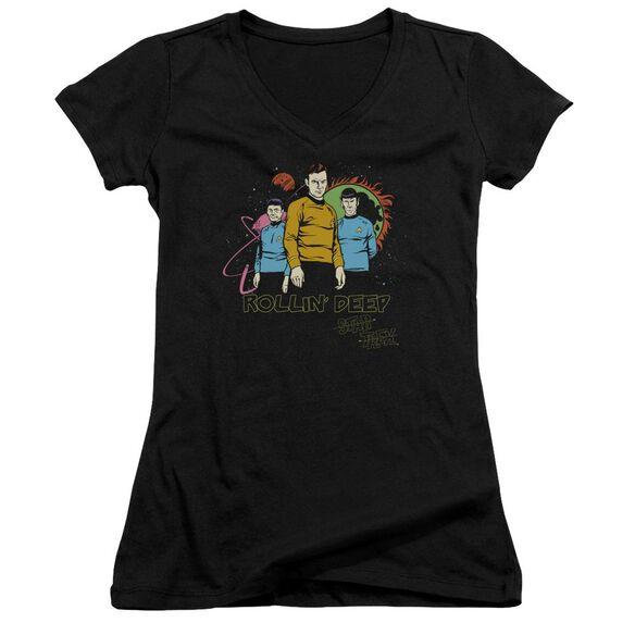 Star Trek Rollin Deep Junior V Neck T-Shirt