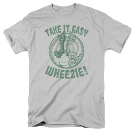 Dragon Tales Take It Easy Short Sleeve Adult Silver T-Shirt
