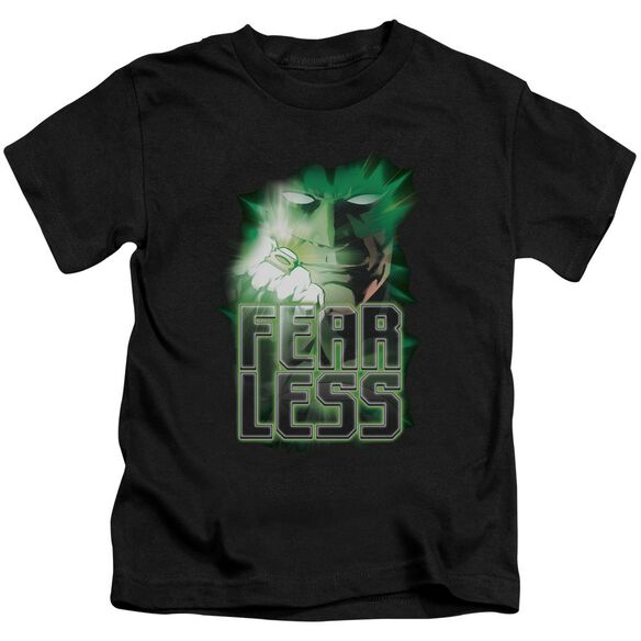 Green Lantern Fearless Short Sleeve Juvenile Black Md T-Shirt